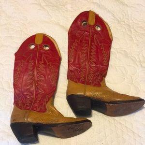 VTG Panhandle Slim leather Buckaroo cowboy boots 9
